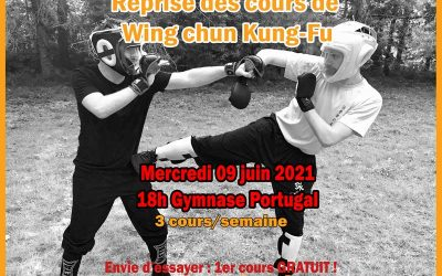 Reprise des cours de Wing Chun – 09 juin 2021